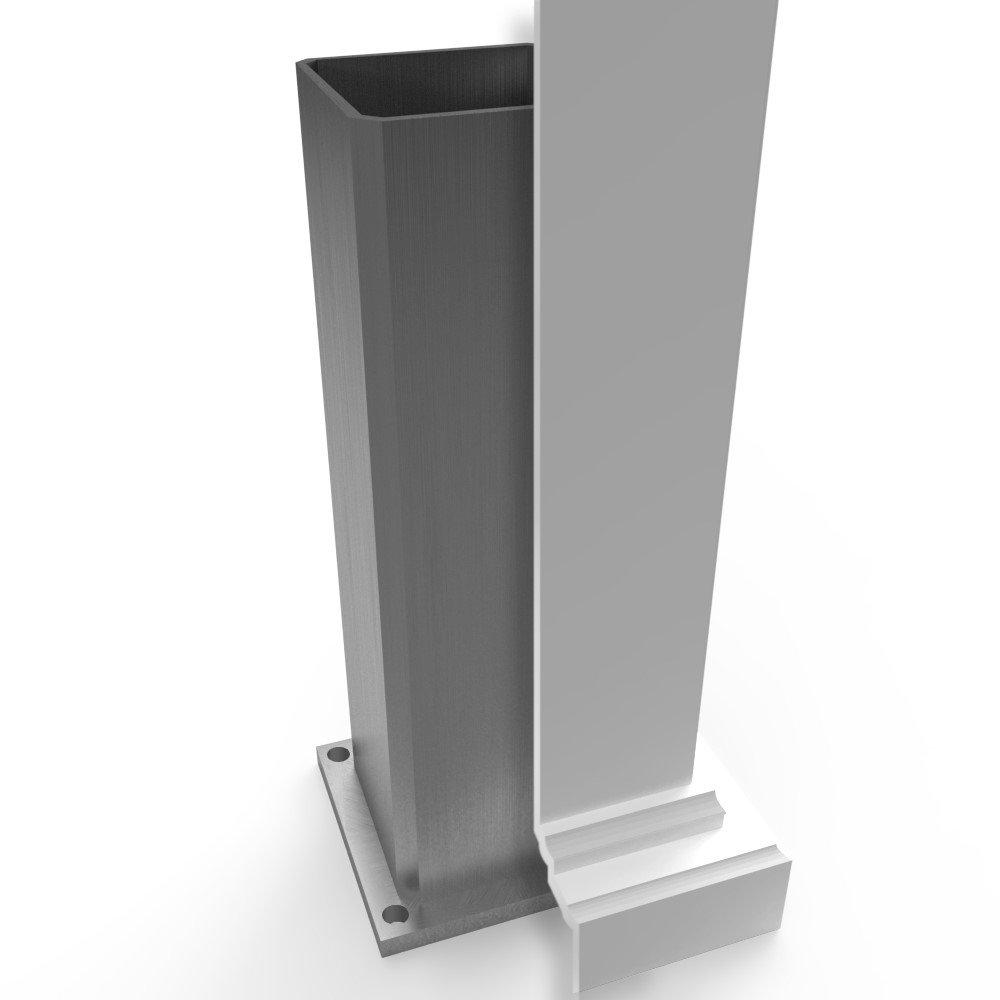 vinyl pergola kit interior aluminum post stiffener example